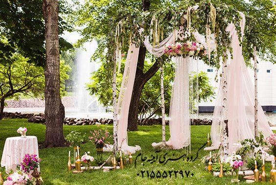 دانلود بکگراند باغ عروس و داماد