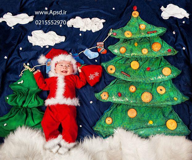دانلود فون نوزاد بابانوئل پارچه ای