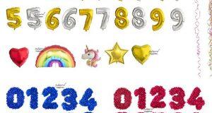 دانلود بادکنک اعداد تولد